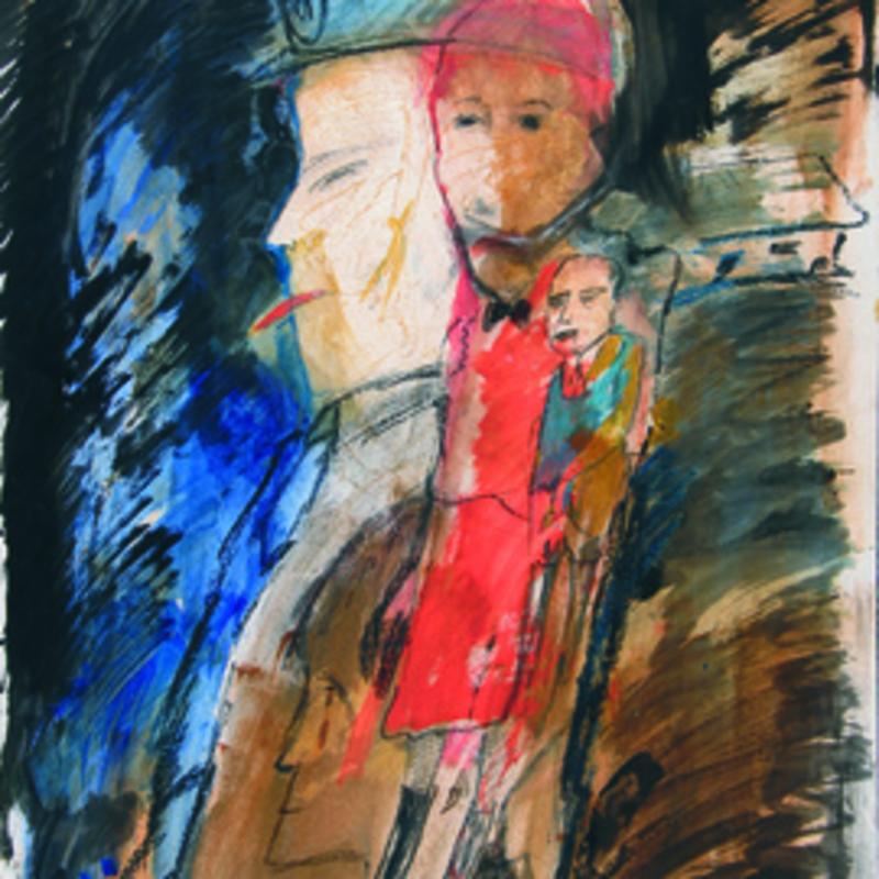 Zvi MILSHTEIN - Painting - Un mégot à Varsovie