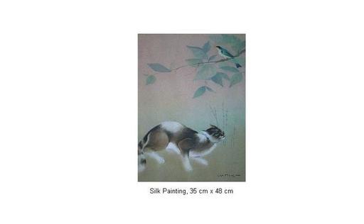 Mai LONG - Painting - Cat, Long 05