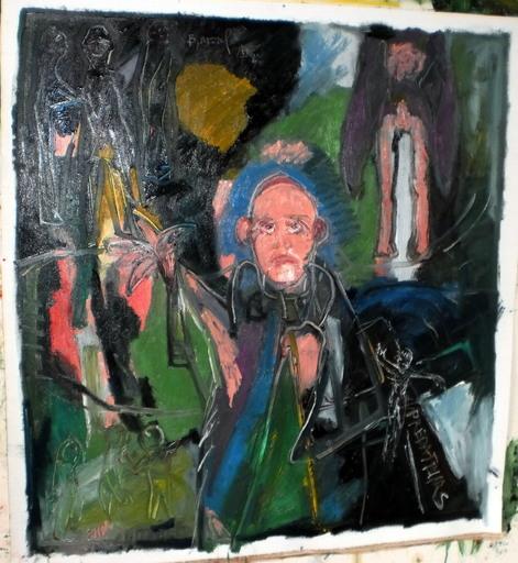 Bernard MOREL - Painting - empathie clérical