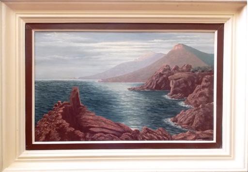 Robert LEMONNIER - Peinture - EFFET DE LUNE SUR UNE CALANQUE ENTRE DE ESTEREL AU TRAYAS