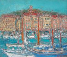André COTTAVOZ (1922-2012) - le port de Saint-Tropez