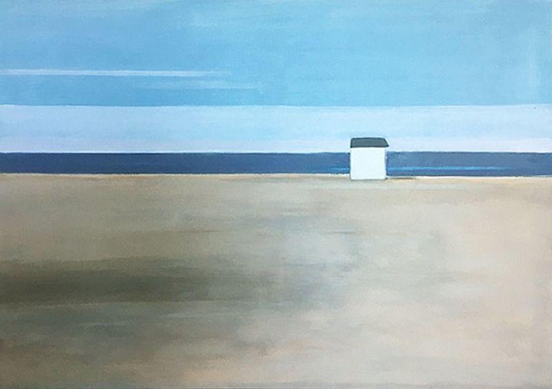 Vivi HERREBOUDT - Peinture - October on the beach    (Cat N° 7175)