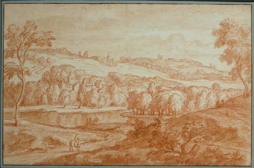 Adriaen Frans II BOUDEWYNS - Drawing-Watercolor - Italiante Landscape