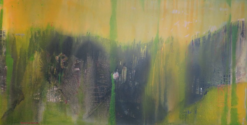 Tung-Wen MARGUE - Painting - Chinese Landscape
