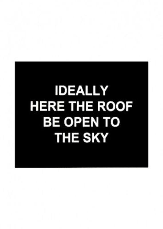 Laure PROUVOST - Estampe-Multiple - Idealy here the roof be open to the sky