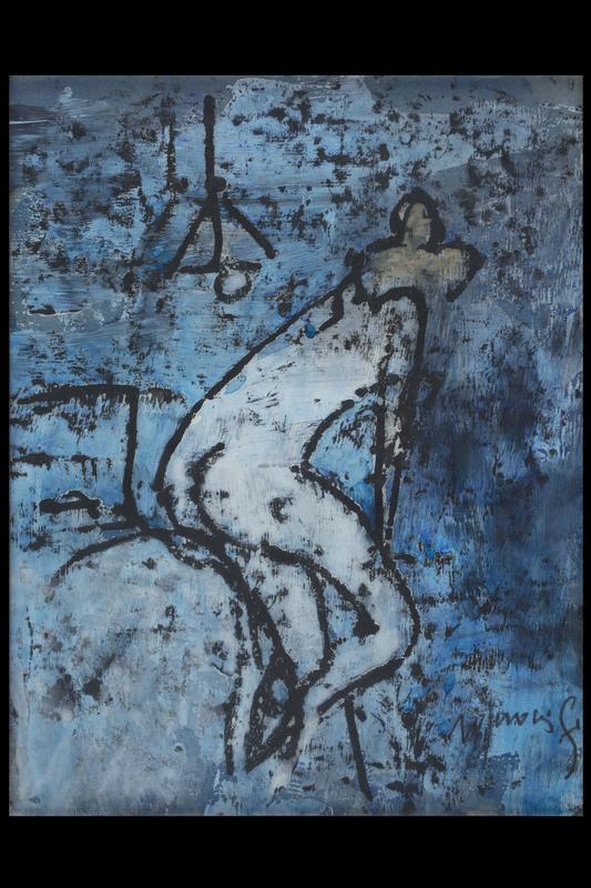 Franco ROGNONI - Pittura - Nudo di donna