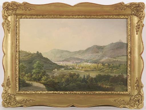 Pieter Francis PETERS - Zeichnung Aquarell -  Stuttgart Surroundings, 1847, Watercolor