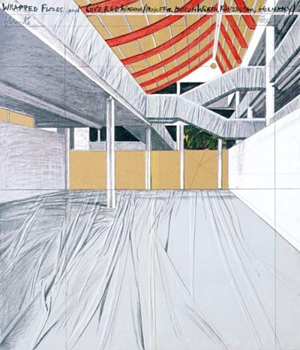 CHRISTO - Estampe-Multiple - Wrapped Floors and Covered Windows, Museum Würth