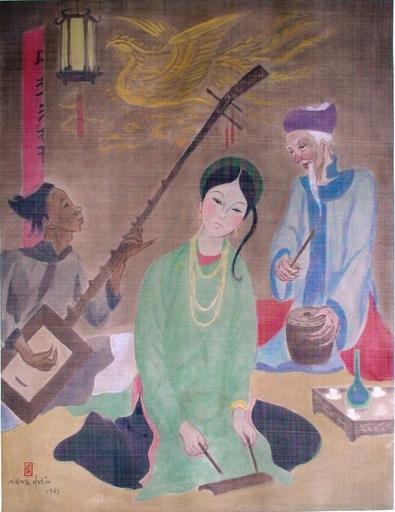 "Nang Hien LE - Painting - ""Ca Tu""   Folk Music Vietnam"