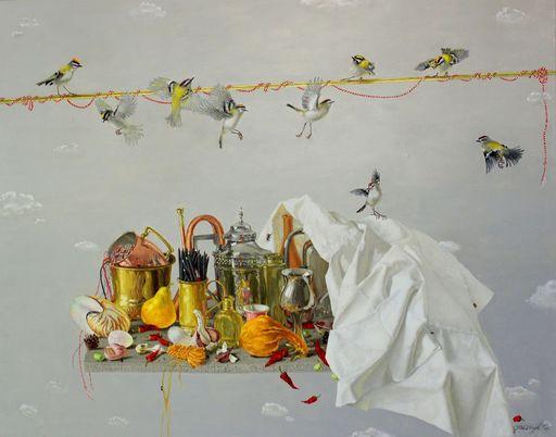 Tatjana PALCUKA - Painting - Still life with Nautilus Pompilius II    (Cat N° 6097)