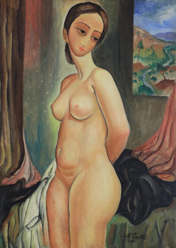 Moshé Elazar CASTEL - Pintura - Nude