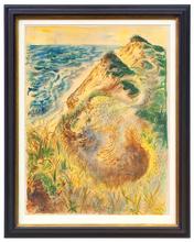 George GROSZ - Dessin-Aquarelle - Dünen bei Truro