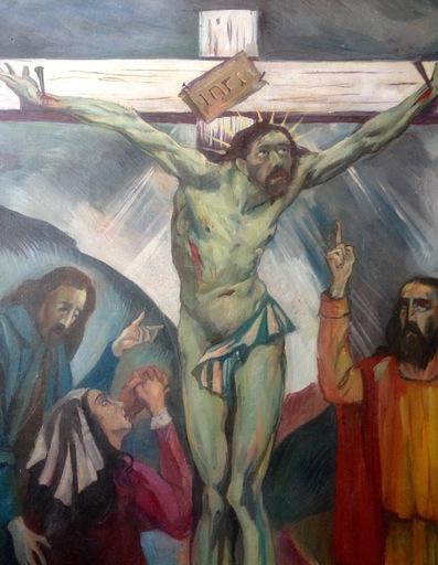 Reynold ARNOULD - 绘画 - Christ – crucifixion - calvaire - Noël 1940