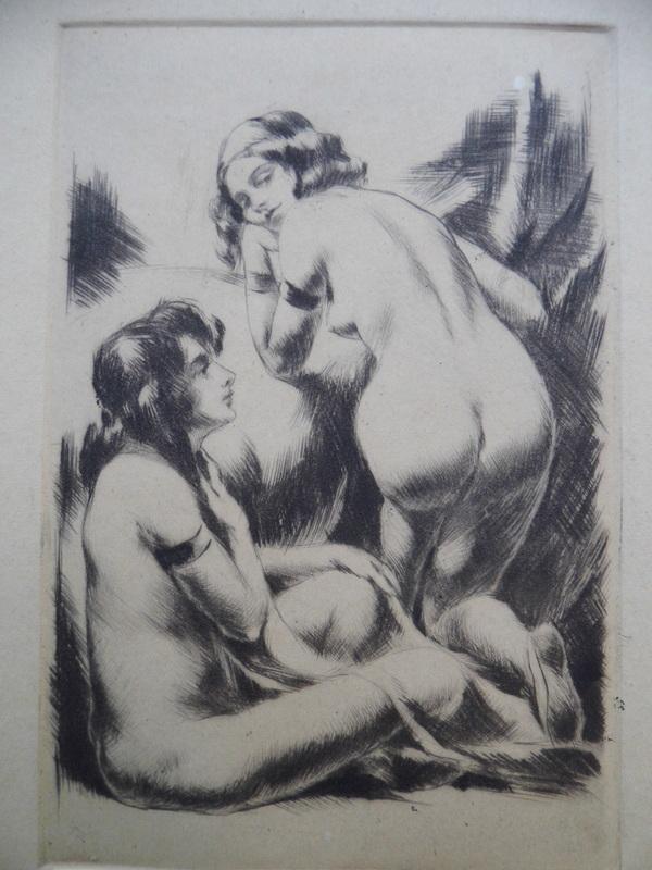 Rezsoe MERÉNYI - Grabado - Female Nudes