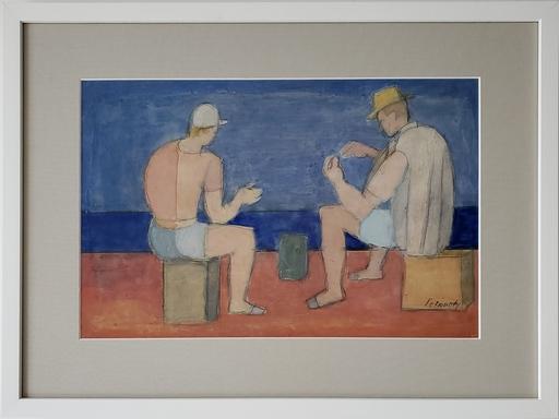 Ivan PETROVSKY - Gemälde - Jugando Naipes