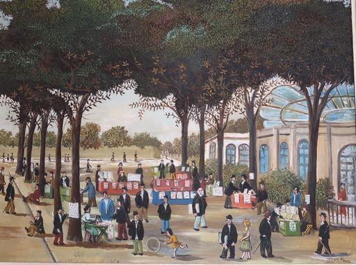 Jean FOUS - 绘画 - Le marché aux timbres