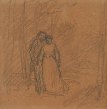 Camille PISSARRO (1830-1903) - Couple on a Forest Path