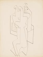 Pierre-Louis FLOUQUET - Dibujo Acuarela