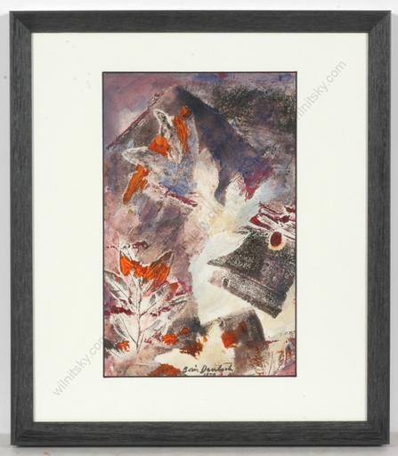 """Boris DEUTSCH - Dessin-Aquarelle - """"Abstract composition"""", watercolor"""