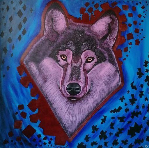 Benjamin DAVID - Peinture - URBAN WOLF