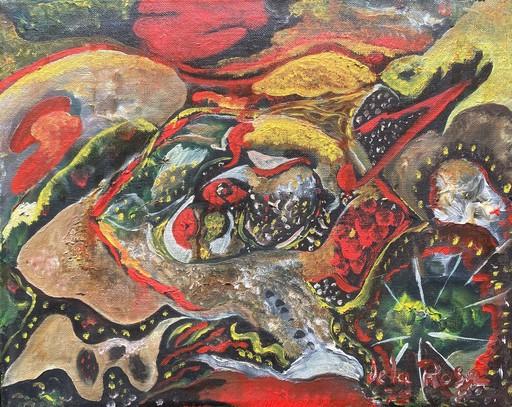 Diego DE LA ROSA - Gemälde - Surrealist Seafood Still Life