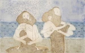 Michaël MAGNE - Estampe-Multiple - Baiser de Klimt