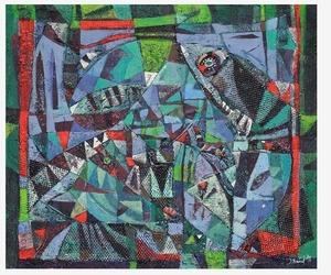 Iris BAND - Painting -  In der Tiefe des Meeres