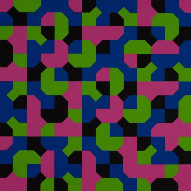 Bruno MUNARI - Print-Multiple - Curve di Peano