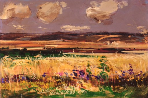 Philippe MONTEAGUDO - Painting - Tierras de Chinchilla (Albacete)