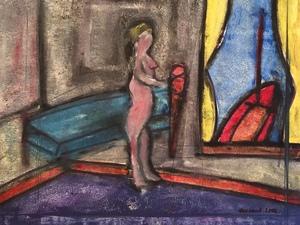 Christian DURIAUD - Pintura - Nu devant la fenêtre