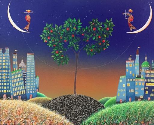 MELONISKI - Pintura - L'albero dei due villaggi