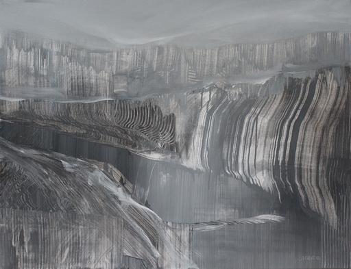 Alex CLAUDE - Painting - La frontière