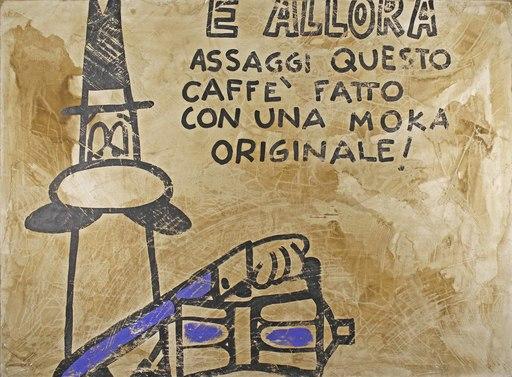 Paolo DE CUARTO - Painting - E allora assaggi questo caffè