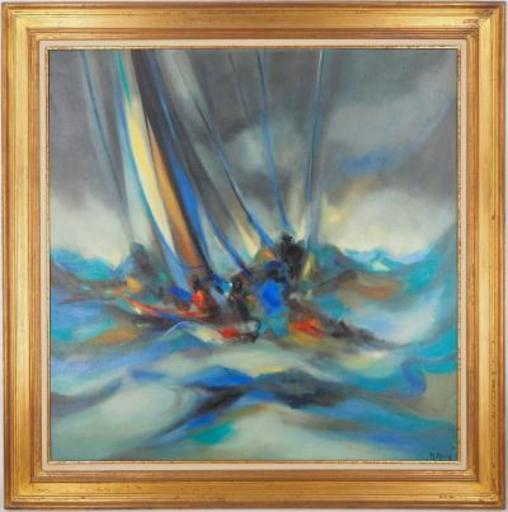 Marcel MOULY - Painting - Orage en mer