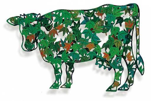 大衛•葛爾斯坦 - 雕塑 - Green Cow