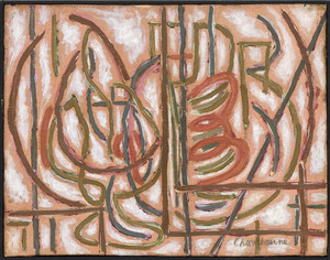 Serge CHARCHOUNE - Painting - Vitrail Violine