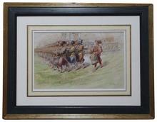 """Carl VON BLAAS - Drawing-Watercolor - """"Parade"""", Watercolor"""