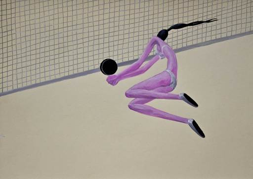 Sonya KOBOZEVA - Drawing-Watercolor - Beach Volleyball