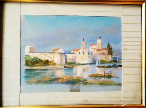 Jean-Louis HONNET - Painting - ANTIBES FORT CARRE VAUBAN