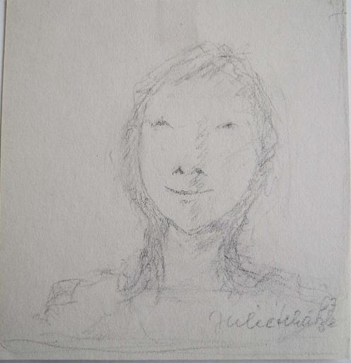 Julie SCHAETZLE - Dibujo Acuarela - Portrait fillette II