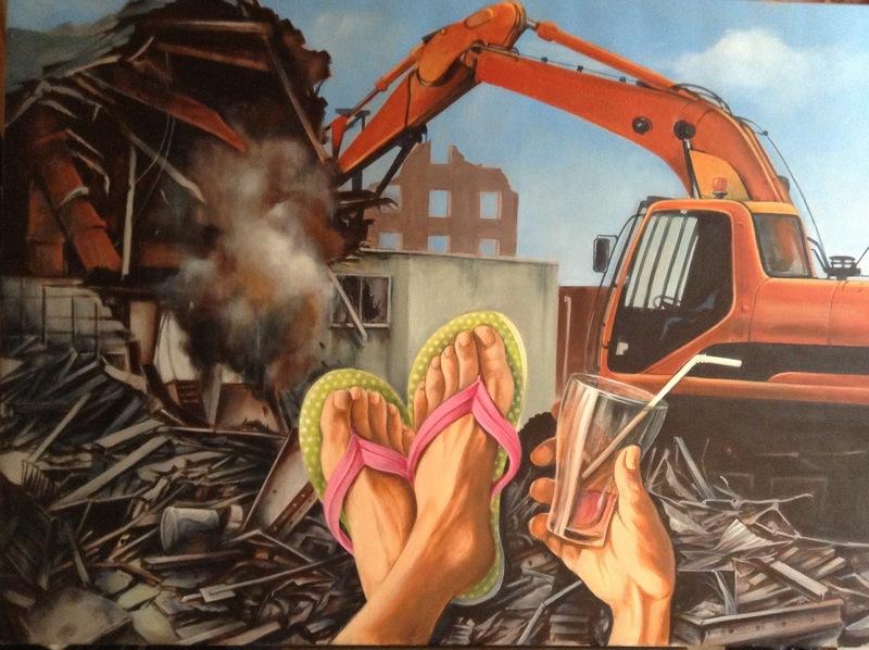 Patrick BRETAGNE - Painting - L'OPTIMISTE(CHANTIER)