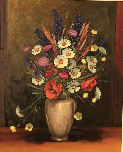 Otto CLÉNIN - Painting - Fleurs des champs