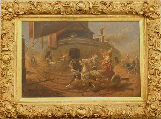 Adolf BAUMGARTNER-STOILOFF - Pintura - römisches Wagenrennen Circus Maximus, Russia, Italy,Roma
