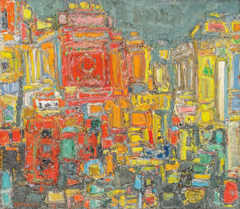 André COTTAVOZ - Painting - Piccadilly Circus