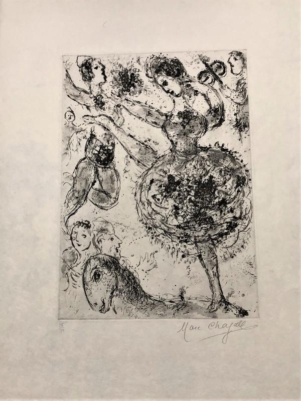 Marc CHAGALL - Estampe-Multiple - La Grand Danseuse