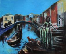 "Enrico GARFF - Pittura - ""Diana in Venice"""