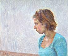 Catherine COCHY DE MONCAN - Pintura - La Boudeuse