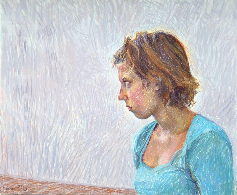 Catherine COCHY DE MONCAN - Peinture - La Boudeuse