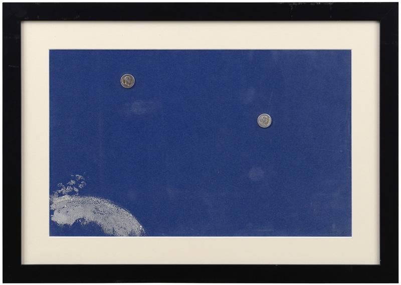 Giulio TURCATO - Gemälde - Composizione con monete