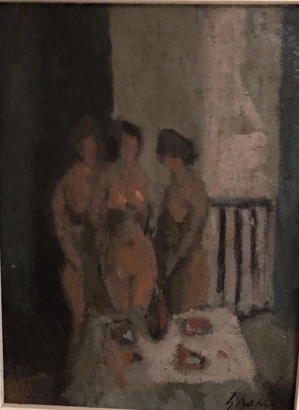 "Carmelo GARCÍA BARRENA - Painting - ""Tres desnudos"""